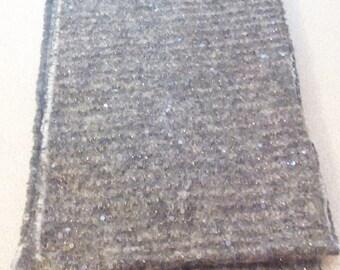 Black sequin fringe scarf