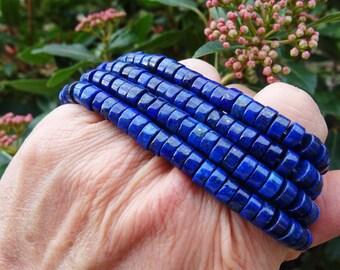 Lot 30 beads lapis lazuli