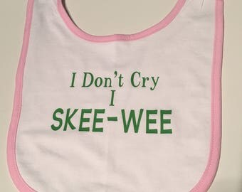 Alpha Kappa Alpha I Don't Cry, I SKEE-WEE girls baby bib
