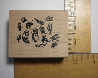 Rubber Craft Stamp - LITTLE PETROGLYPHS, My Heart Stamps For You, pay it forward, PIF