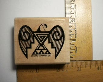 Rubber Craft Stamp - EAGLE PETROGLYPH, Stampin' Up - 1999, pay it forward, PIF