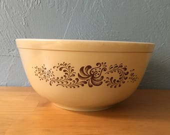 Pyrex Homestead 403 Mixing Nesting Bowl Brown Speckled