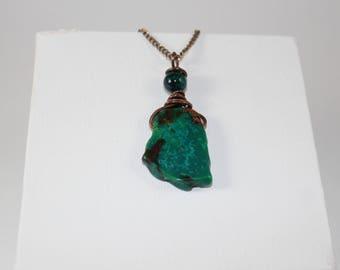 Aqua Terra Jasper and Copper Necklace