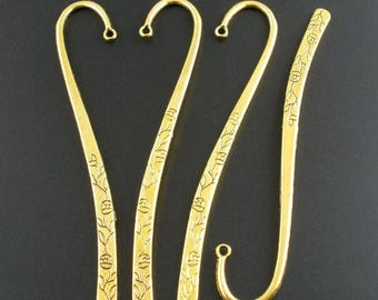 M* - 5 Inch Bookmarks in Gold or Silver Plate, Pack of 3 (2129)