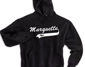marquette sweatshirt, marquette apparel. marquette hoodie, athletic michigan hoodie, marquette apparel, michigan apparel, michigan gifts