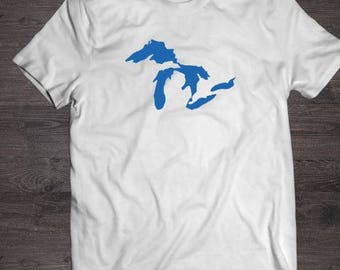 Great lakes shirt, white, great lakes, tshirt