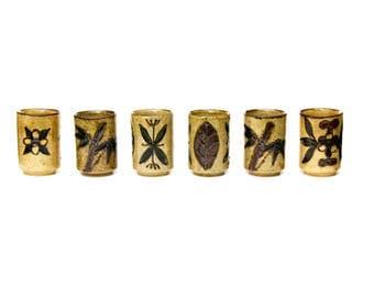 OMC Japan Tea Cups, Tea Cup Set of 6 by Otagiri Mercantile Company