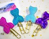 Mermaid Planner Clip - Planner Bookmark - Holographic Mermaid Planner Planner clip - Planner Clip- Felt Planner Clip - Feltie clip - Holo
