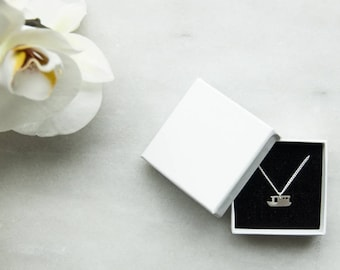 Residential boats necklace-Silver