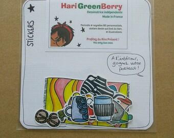 Stickers (autocollants) pour décorer carnet, bujo, planner, agenda