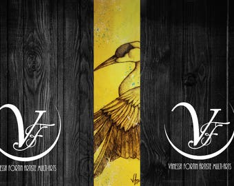 ELEGANCE, the Canada crane, pyrography, burning, painting, small, bird, crane, wood