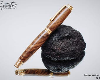 Handmade Wooden Fountain Pen in Walnut - Birthday Gift, Thank-you Gift, Retirement Gift, Fathers Day, Christmas Gift (RM185)