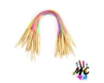 Set of 18 colors 40 cm Circular needles