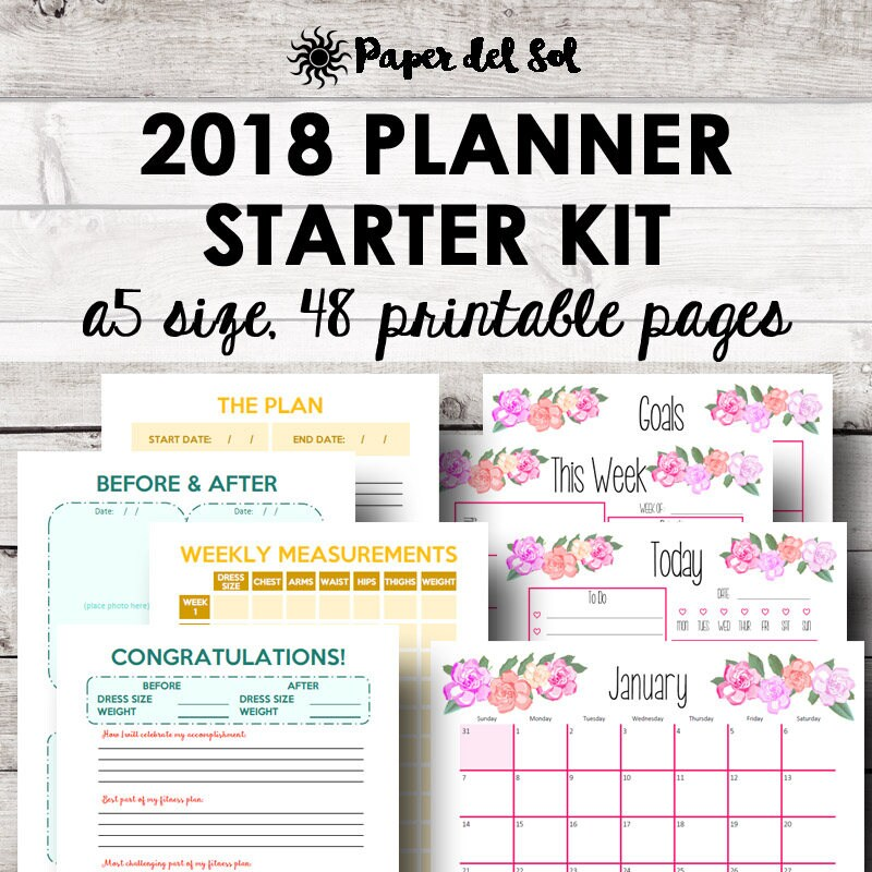 Printable Calendar Kit : Printable planner kit weekly a calendar