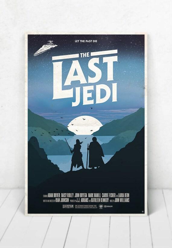 Star Wars Movie Poster Illustration / Star Wars Movie Poster / Movie Poster / Star Wars / The Last Jedi