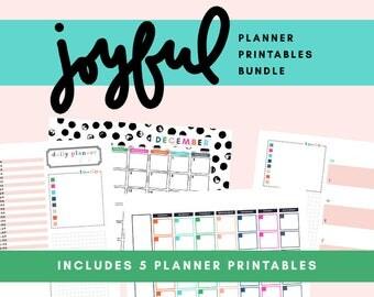 Joyful Planner Printable Bundle