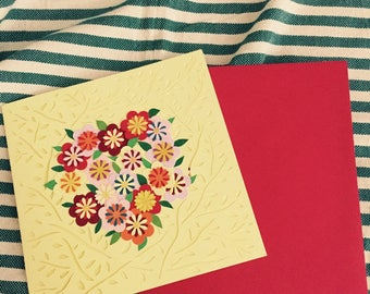 hand made greeting card: happy birthday