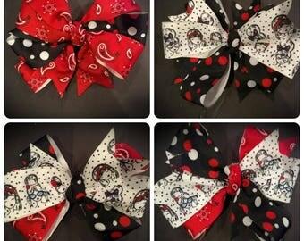 Red-White-Blue Hair Bows