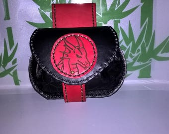 purse medieval leather