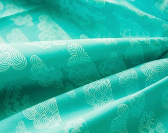 Cloud 9 Fabrics, Eloise Renouf, First Light, Nimbus, Turquoise, Mint, Organic Cotton, Quilting Sewing Material, Half Metre