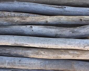 "10 Straight 18"" - 24"" Macrame Quality / Driftwood Sticks / Straight driftwood / fiber art"