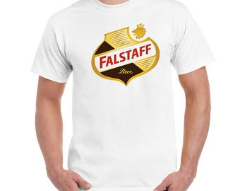 FALSTAFF Beer Shield Beer Retro Vintage Men's T-SHIRT Shirt Tee