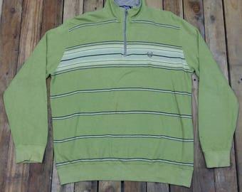Chaps RALPH LAUREN Stripes Jumper Men 3Large Green Vintage 90s Ralph Lauren Polo Rugby Chaps Lauren Pullover Sweatshirt Polo Sweater Size 3L