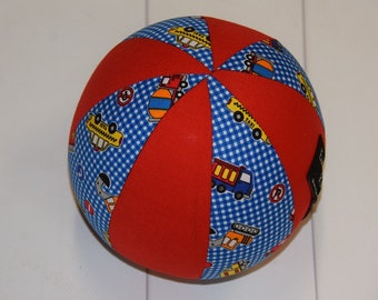 Balloon Ball Baby, Balloon Cover, Balloon Ball, Ball, Kids, Trucks, Red, Blue, Portable Ball, Travel Toy, Travel, Eumundi Kids, Eumundi