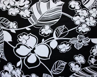 Floral Print Lycra/Spandex 4 way stretch Matt Fabric