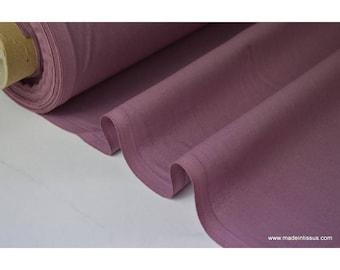 Tissu cretonne coton mauve par 50cm