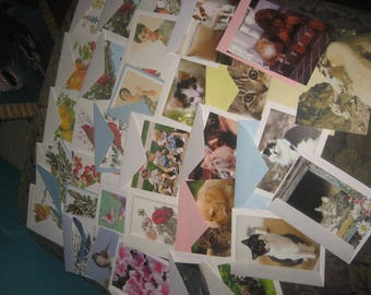 Variety of 35 Blank Greeting Cards with Envelopes