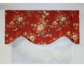 Waverly Traditional Bouquet Red Valance