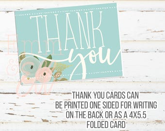 Thank You Cards - 4X5.5 - Tea Party Baby Shower