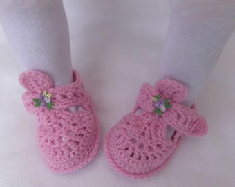 Baby Slippers, crochet, wool, Rebornschuhchen, first shoes,