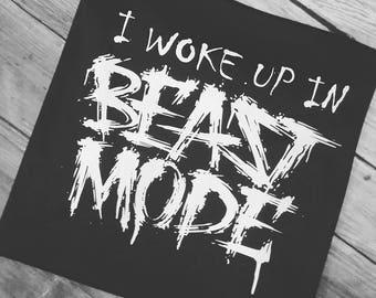 Beast mode, I woke up in beast mode, kids sports shirt,mens sport shirt