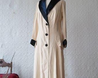 Cream Silk Victorian Overcoat