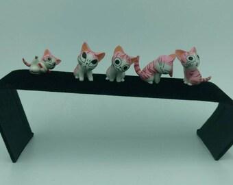 Kitty Brim Pins - Pink