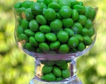 Half pound of green melon Skittles