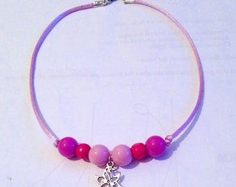 Pink Pearl Necklace and Fuchsia