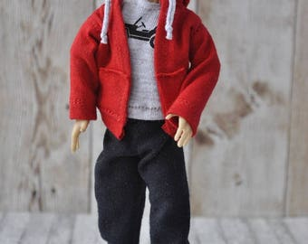 Handmade clothes for 1/12 scale male dolls Zjakazumi-HOODIE