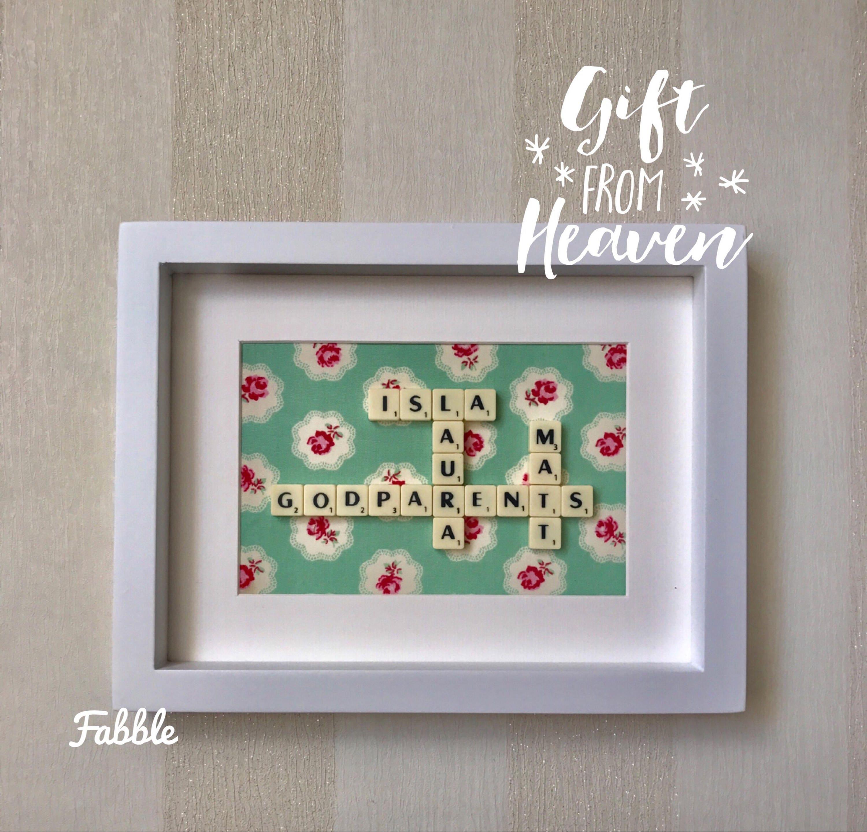 Personalised christening keepsake frame - framed christening gift ...