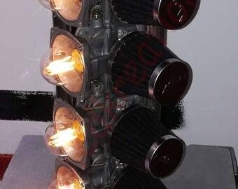 design lamp carburetor - Upcycling lamp hot rod - CDKREATION