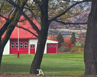 SMALL SIZE - Photography - Quebec - Summer - Farm - Trees
