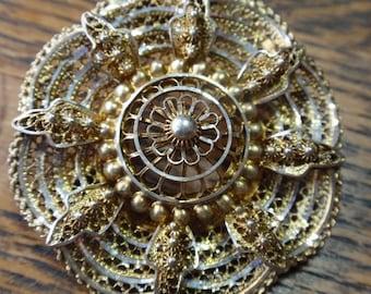 Alice Cavlness Sterling Flower Brooch