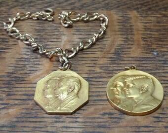 1961, 1965 Inaugural Ball bracelet & Pendant