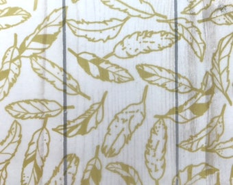 Gold Feathers // Vellum TN Travelers Notebook Ephemera Planner Decor