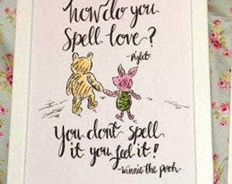 Winnie the Pooh and Piglet (Love)