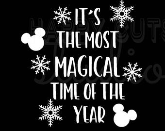 It's the Most Magical Time of the Year/ Mickey Minnie Mouse Holidays Christmas Matching Family Boys Girls Disney Iron On Decal Vinyl 178