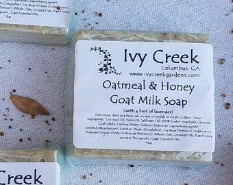 Oatmeal & Honey Goat Milk Soap,  Goat Milk Soap, Natural Soap, Holistic Soap, Oatmeal Soap, Honey Soap, Gifts for Her, Gifts for Mom