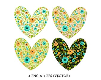 Vector Flower Heart Clip Art